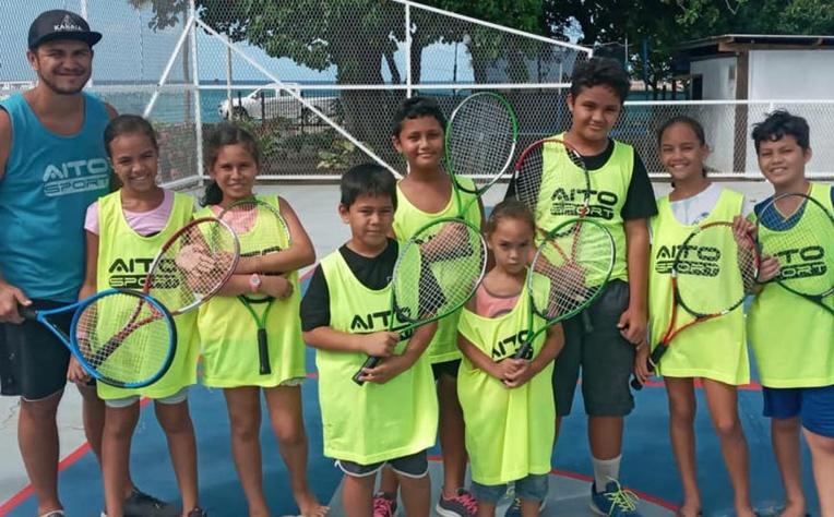 Richard Taata, le président de l'AS Ua Pou tennis mise sur les jeunes pour la pérennité du club.