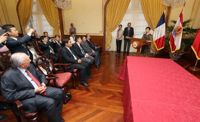 Gaston Flosse «fonde beaucoup d'espoir dans la coopération» avec la Chine