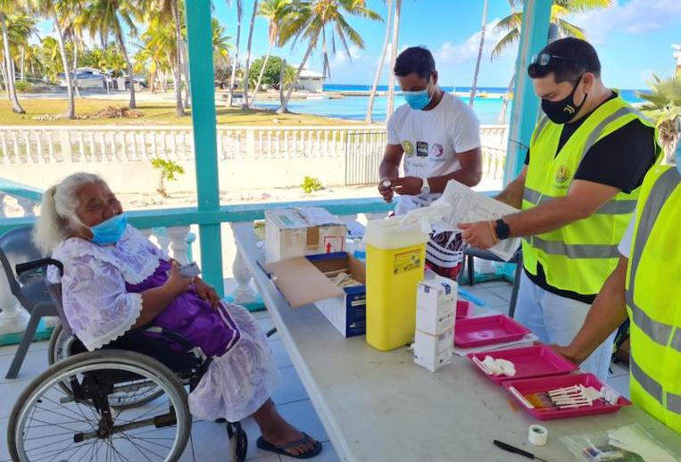 Raroia fait partie des sept atolls qui ont accueilli les équipes de la Direction de la santé pendant leur mission de vaccination du 9 au 12 octobre.