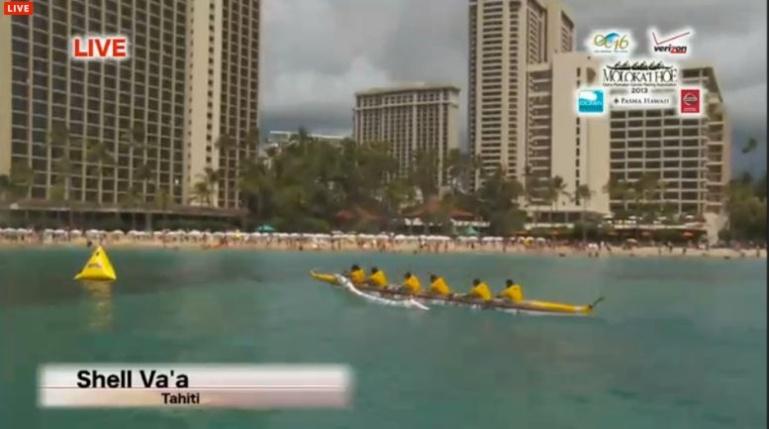 L'arrivée à Waikiki