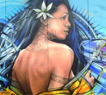 Tahiti, thème d'une fresque murale de 128 m2 à Paris