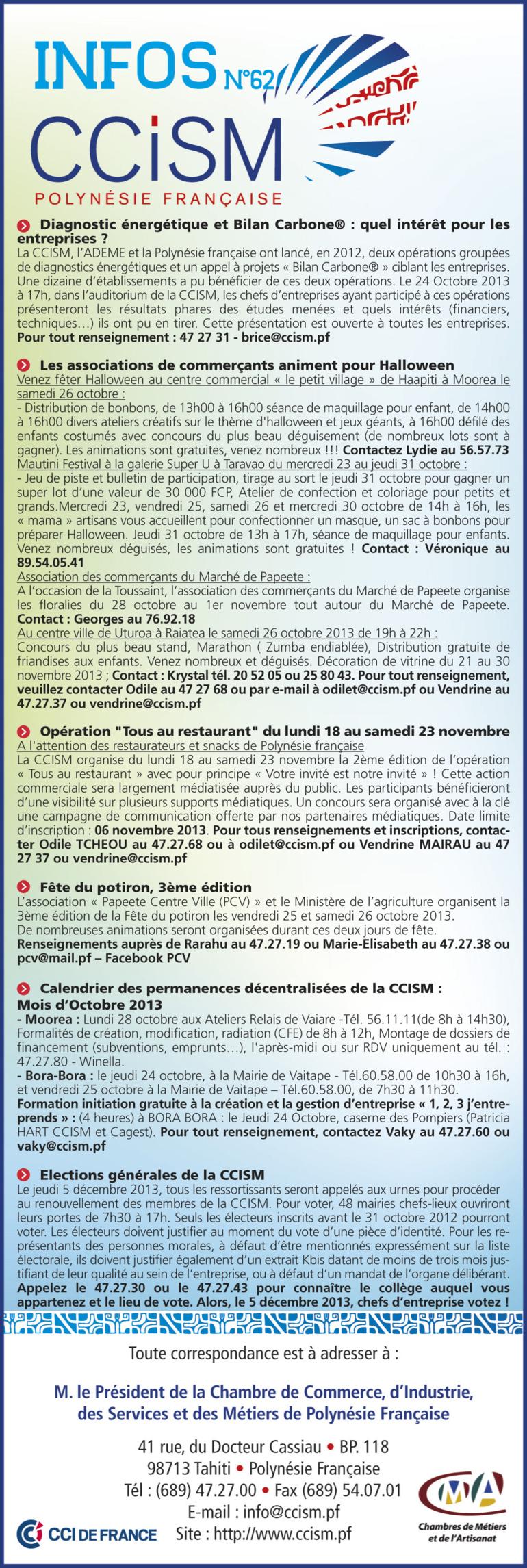 Infos CCISM N°62