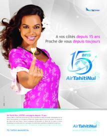 En novembre, Air Tahiti Nui fête ses 15 ans d'activité: des miles et des cadeaux offerts
