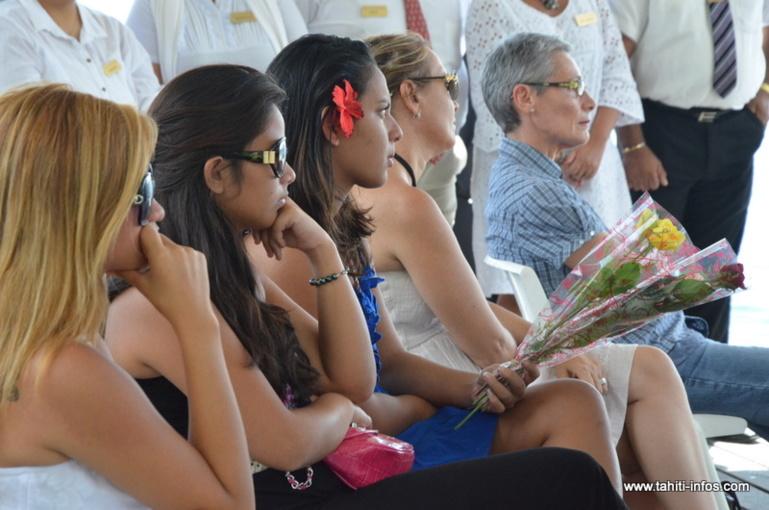 Vendredi 9 août 2013 sur les quais de Papeete, lors de la cérémonie anniversaire du crash d'Air Moorea