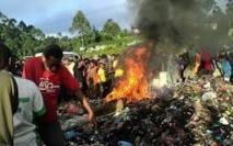 Image d'archives : scène d'immolation