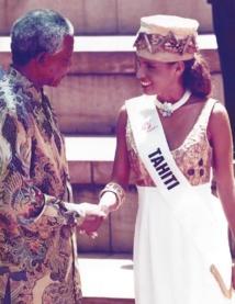 Hommage: Quand une Miss Tahiti rencontrait Nelson Mandela
