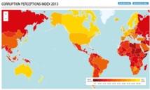 La carte de la perception de la corruption