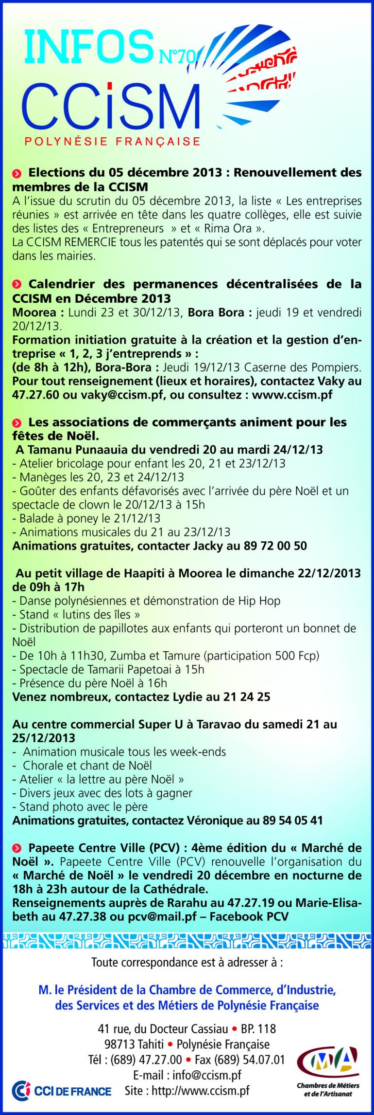 Infos CCISM N°70