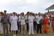 Déplacement du Haut-Commissaire à Ua Huka  à l'occasion de la cérémonie d'ouverture  du 3ème Mini Festival des Marquises