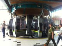 Une gare du Métrocâble de Medellin.