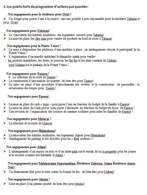 Sandra Lévy Agami présente sa liste et son programme pour Mahina