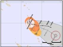 Formation d'un cyclone au Nord de Vanuatu