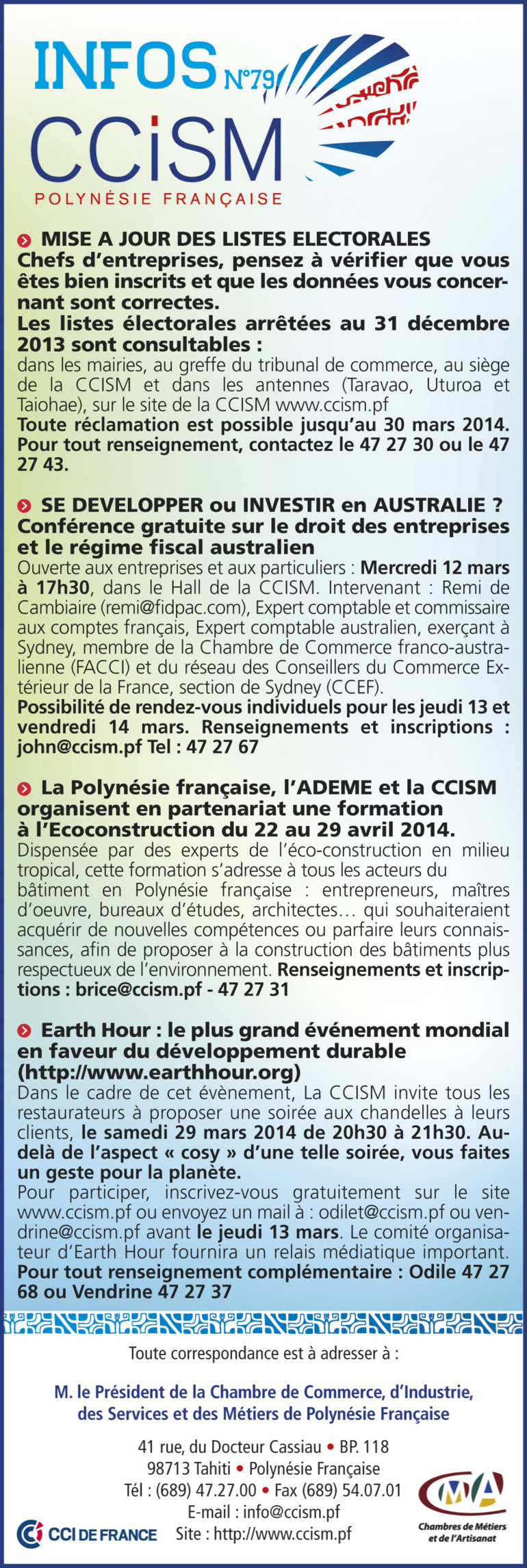 Infos CCISM N°79