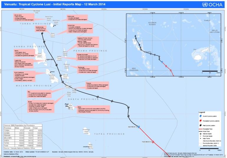 Cyclone Lusi à Vanuatu : le bilan humain s'alourdit