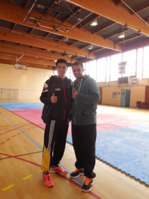Teddy TENG avec Tamer ABDOU BAYOUMI le Vice champion Olympique  aux jeux d'Athènes en 2004 et entraîneur de l'équipe nationale d'Egypte.