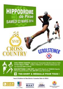 Croos: Rendez vous cet après-midi à l'hippodrome de Pirae pour le 17ème Cross Country