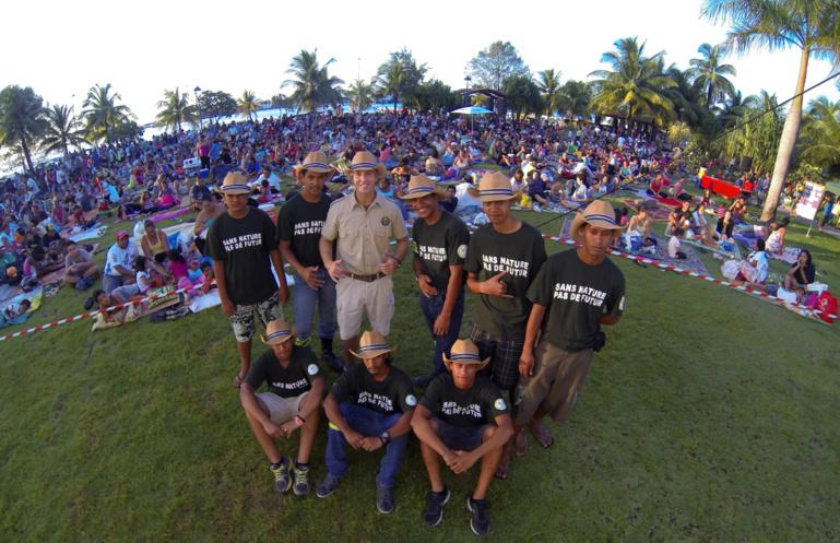 Le mouvement citoyen et la Brigade Verte, samedi dernier devant une foule nombreuse.