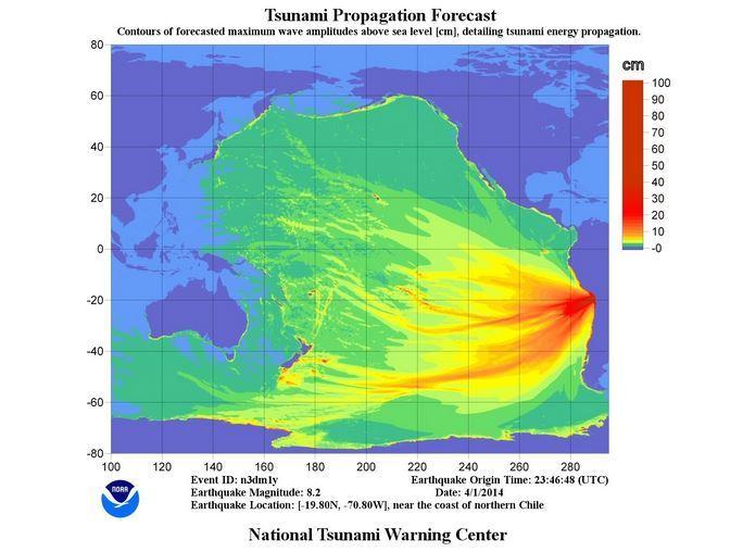 Alerte au tsunami après un puissant séisme au Chili