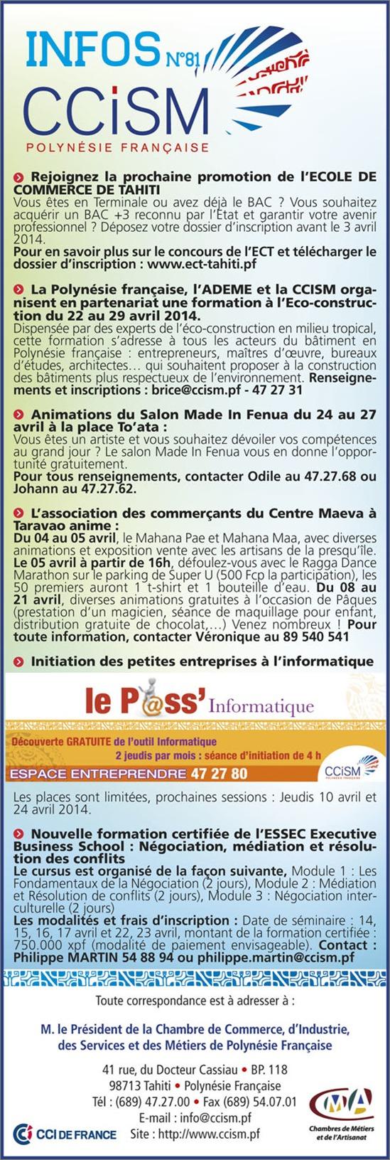 Infos CCISM N°81