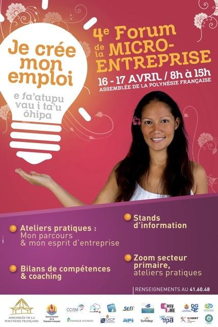 Du 16 au 17 avril à l'Assemblée de Polynésie : encourager la micro-entreprise