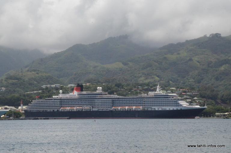 Le MS Queen Victoria a visité nos eaux en février