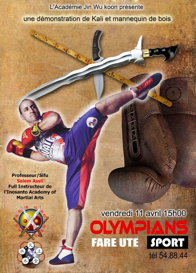 Art Martiaux – une démonstration de Kali et mannequin de bois à Olympians