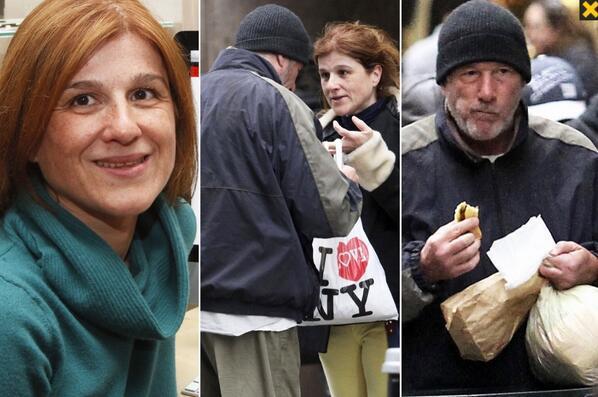 Elle prend Richard Gere pour un clochard et lui offre sa pizza