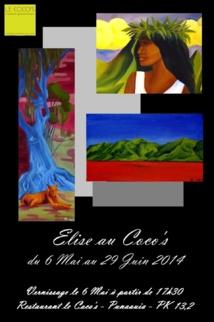 Exposition d'Elise Bertret au Coco's du 6 mai au 29 juin 2014