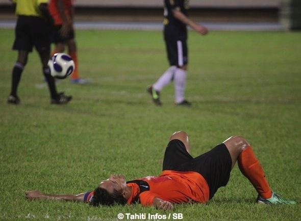 Marama Vahirua voit son rêve de O'League 2014 s'envoler