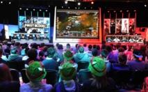 """Le tournoi """"League of Legends"""" de jeu video, le 8 mai 2014 à la salle du Zénith, Paris."""