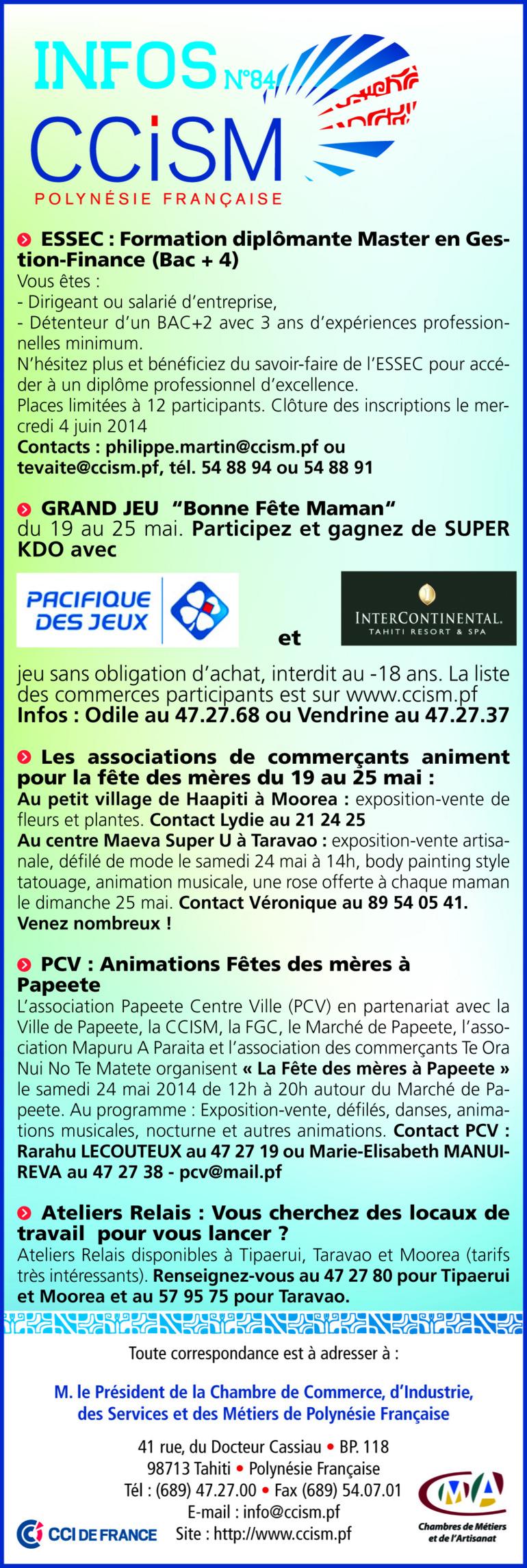 Infos CCISM N°84