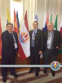 La Grande Loge Maçonnique régulière de Tahiti ( GLRT) participe à une conférence mondiale à Bucarest