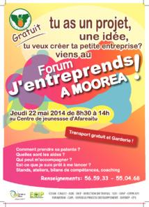 Forum «J'entreprends à Moorea !» le jeudi 22 mai à Afareaitu