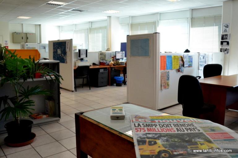 La rédaction du quotidien Les Nouvelles de Tahiti, jeudi matin 22 mai