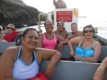 Les membres des Comités du Tourisme des Marquises sur la baleinière Aranui.