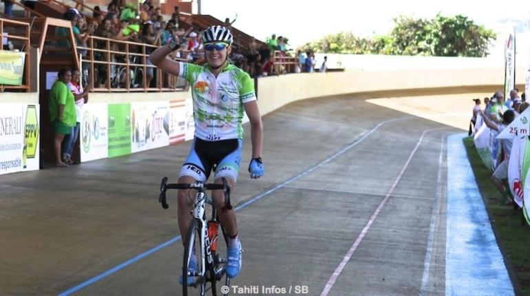 Samuel Layzell termine premier malgré sa chute