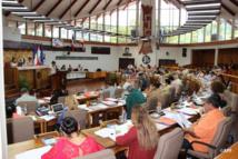 Les élus de l'assemblée de Polynésie réunis ce mardi (Photo APF).
