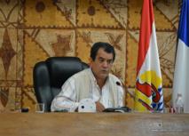 Edouard Fritch, le président de l'assemblée de Polynésie française ouvrira la 7e séance de la session administrative ce lundi.