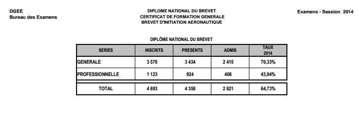 Les résultats finaux du bac et du DNB : bon cru pour la promo 2014