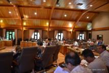 Lors de la réunion ce vendredi matin de la séance plénière du CESC.