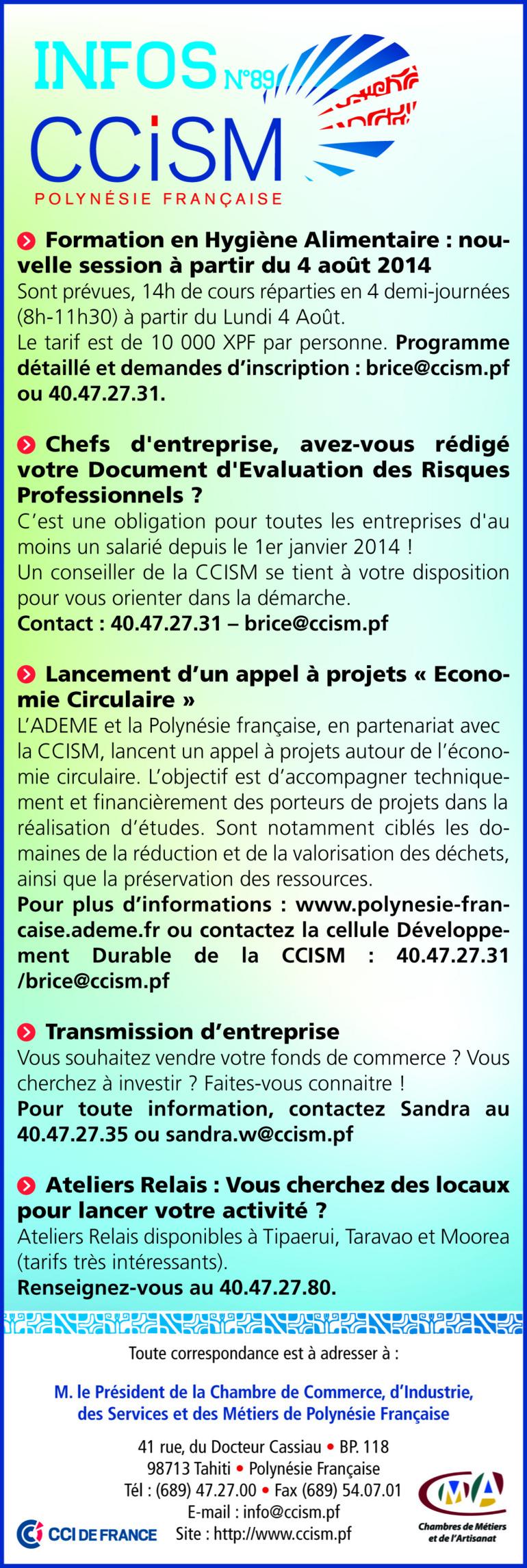 Infos CCISM N°89
