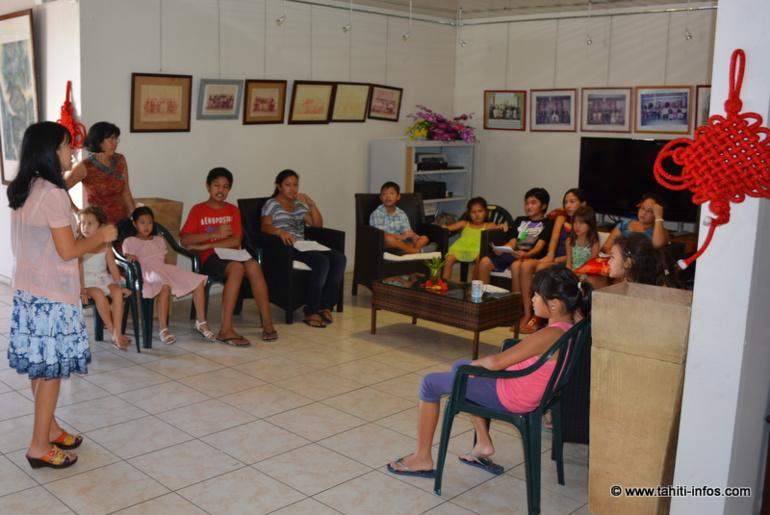 Les enfants ont chanté pour leurs parents, en chinois bien sûr !