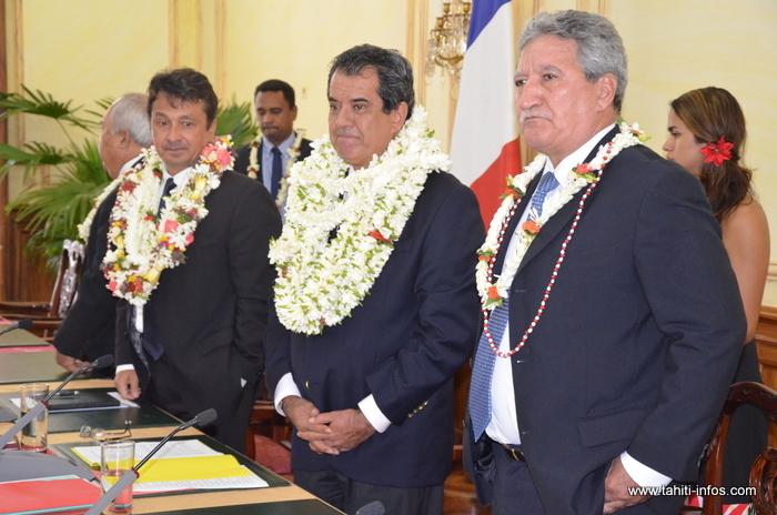 Présentation des membres du gouvernement Fritch I