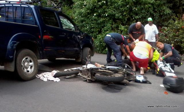 une femme de 52 ans grievement blessee dans un accident de la route