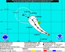 La tempête tropicale Ana va toucher Hawaii