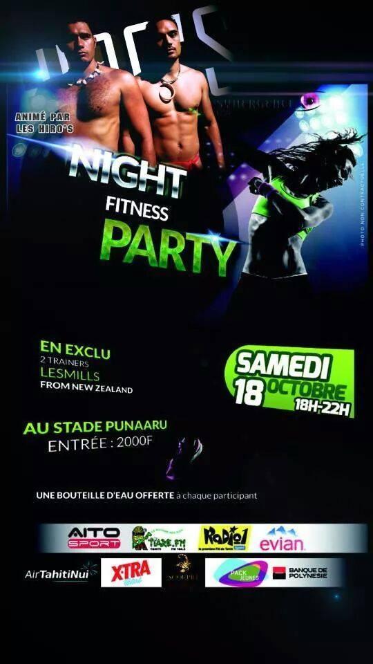 Fitness – 'Night Fitness Party' : 4 heures d'action avec des 'coachs' de Nouvelle Zélande !