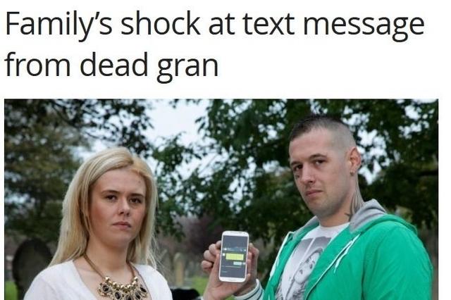 Une famille anglaise choquée par un SMS d'outre-tombe