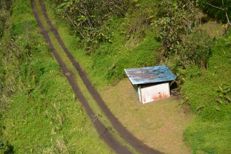 le bout du chemin pour la route traversiere de tahiti