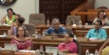 Le groupe UPLD ce jeudi à l'assemblée de Polynésie lors du vote du 4e collectif budgétaire 2014.