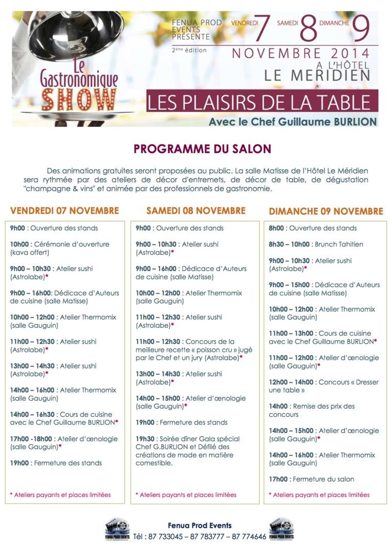 """Trois jours de """"Gastronomique Show"""" au Méridien ce weekend"""